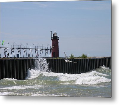 South Haven Lighthouse Metal Print by Matthew Winn