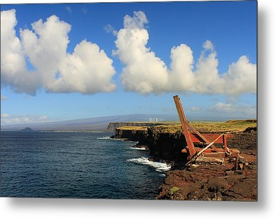 Metal Print featuring the photograph South Point Hawaii Boat Hoist by Scott Rackers