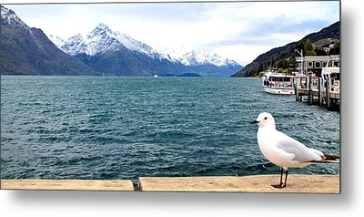 Metal Print featuring the photograph Southern Alps Across Lake Wakatipu by Laurel Talabere
