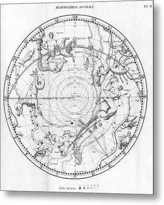 Southern Celestial Map Metal Print by Science, Industry & Business Librarynew York Public Library