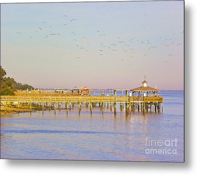 Metal Print featuring the photograph Southport Piers by Eve Spring