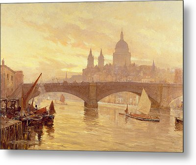 Southwark Bridge Metal Print by Herbert Menzies Marshall
