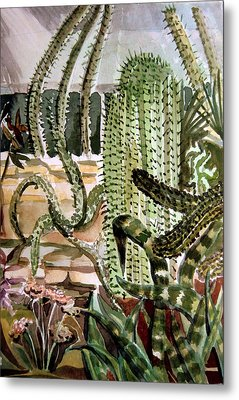 Southwest Garden Metal Print by Mindy Newman