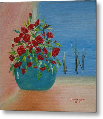 Metal Print featuring the painting Southwestern 1 by Judith Rhue