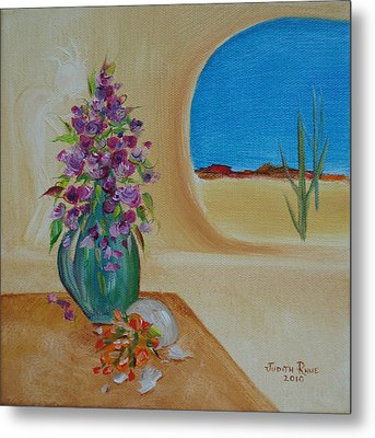 Metal Print featuring the painting Southwestern 3 by Judith Rhue