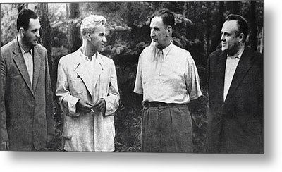 Soviet Engineers And Physicists, 1954 Metal Print by Ria Novosti
