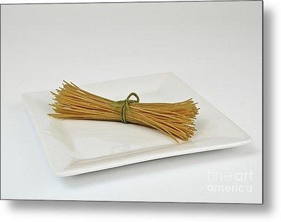 Soybean Spaghetti Metal Print