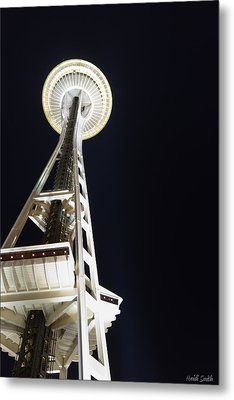 Space Needle Metal Print by Heidi Smith