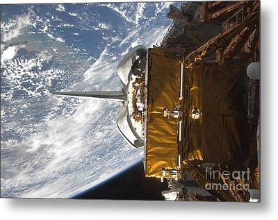 Space Shuttle Atlantis Payload Bay Metal Print by Stocktrek Images