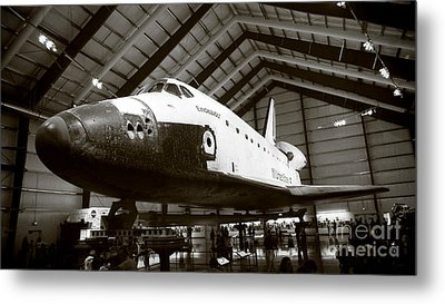 Space Shuttle Endeavour Metal Print by Nina Prommer