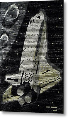 Space Shuttle Final Mission Metal Print