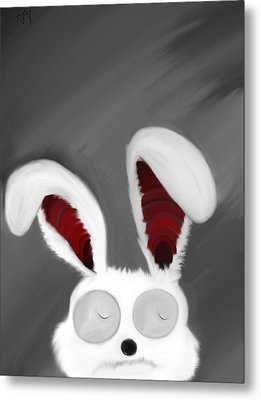 Spaced Bunny Metal Print by Andre Carrion