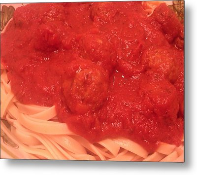 Spaghetti And Meatballs Metal Print by Michael Merry