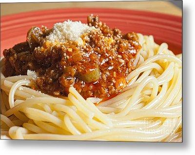 Spaghetti Bolognese Dish Metal Print by Andre Babiak