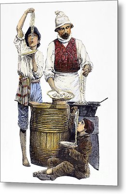 Spaghetti Vendor Metal Print by Granger