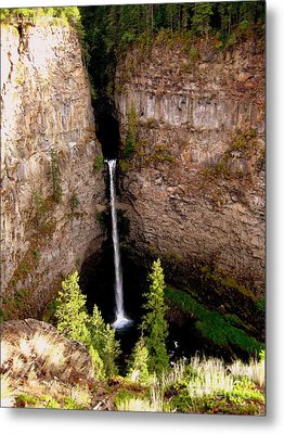 Metal Print featuring the photograph Spahats Creek Falls by Kathy Bassett