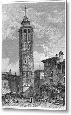 Spain: Saragossa, 1833 Metal Print by Granger