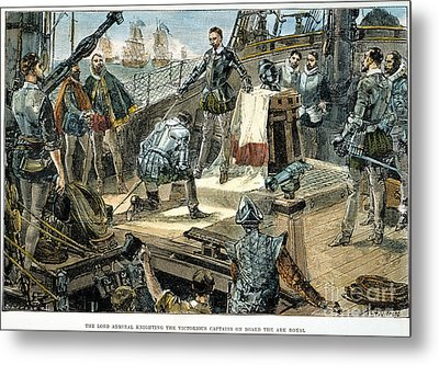 Spanish Armada Metal Print by Granger