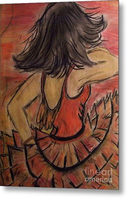 Metal Print featuring the painting Spanish Dancer by Lori  Lovetere