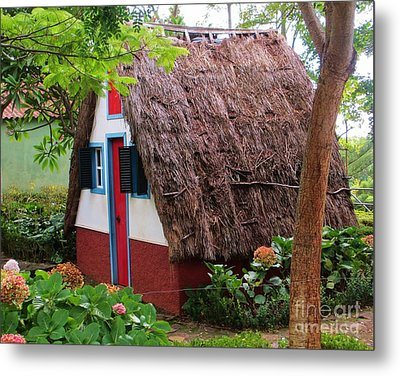 Spanish Thatched Cottage Metal Print