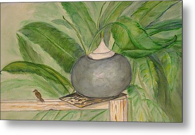 Sparrow And Ginger Metal Print by Marian Hebert