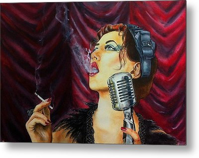 Speakeasy Blues Metal Print by Don Whitson