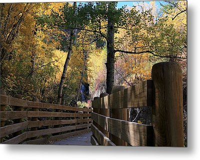 Spearfish Canyon Walkway Metal Print