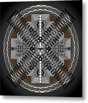 Metal Print featuring the digital art Spectral Formations by Mario Carini