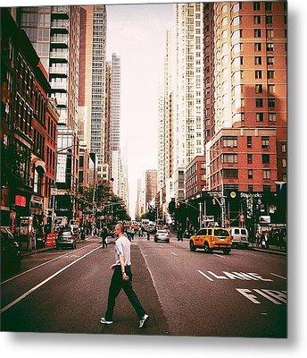 Speed Of Life - New York City Street Metal Print by Vivienne Gucwa