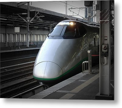 Speed Train Metal Print by Naxart Studio