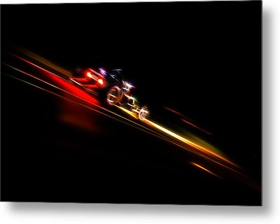 Speeding Hot Rod Metal Print