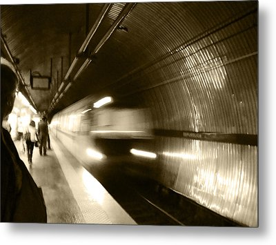 Speeding Train Metal Print by Marta Cavazos-Hernandez