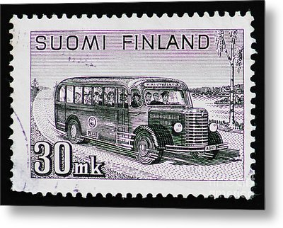 Metal Print featuring the photograph Speedy Old Bus by Andy Prendy