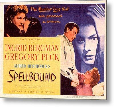 Spellbound, Ingrid Bergman, Gregory Metal Print