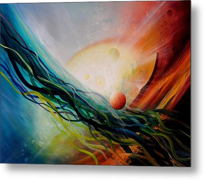 Sphere Gl2 Metal Print by Drazen Pavlovic