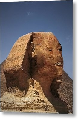 Sphinx Petra Metal Print by Nafets Nuarb
