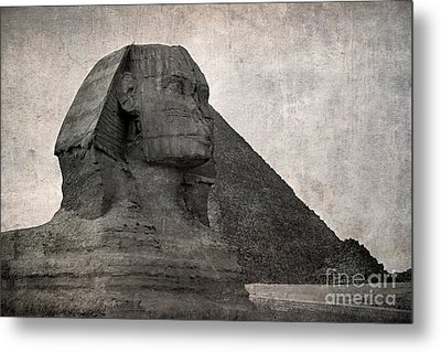 Sphinx Vintage Photo Metal Print by Jane Rix