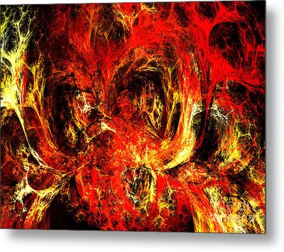 Spider Caverns Metal Print by Andee Design