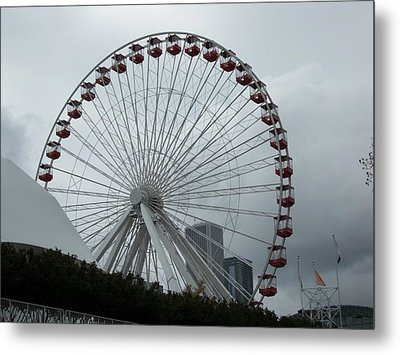 Spinning Metal Print by Val Oconnor
