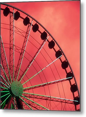 Spinning Wheel  Metal Print by Karen Wiles