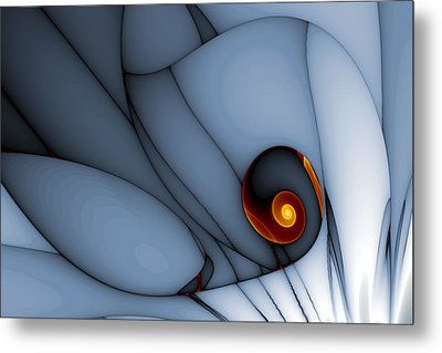 Spiral And Wobbly Lines Metal Print by Mark Eggleston