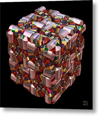 Metal Print featuring the digital art Spiral Box I by Manny Lorenzo