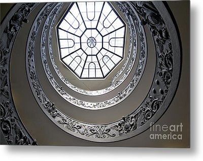 Spiral Staircase In The Vatican Museums Metal Print by Bernard Jaubert