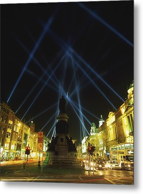 Spire Of Dublin, Oconnell Street Metal Print by The Irish Image Collection