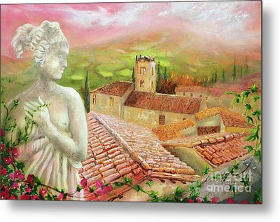 Metal Print featuring the painting Spirit Of Tuscany by Michael Rock
