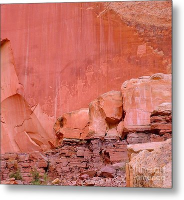 Metal Print featuring the photograph Spirit Wall by Ann Johndro-Collins