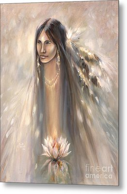 Spirit Woman Metal Print by Charles B Mitchell