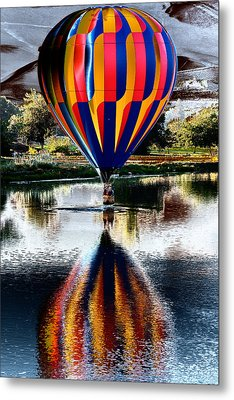 Splash And Dash With A Hot Air Balloon Metal Print by David Patterson