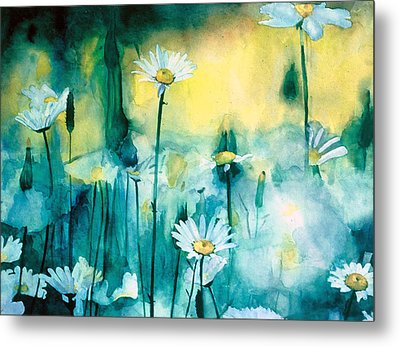 Splash Of Daisies Metal Print by Cyndi Brewer