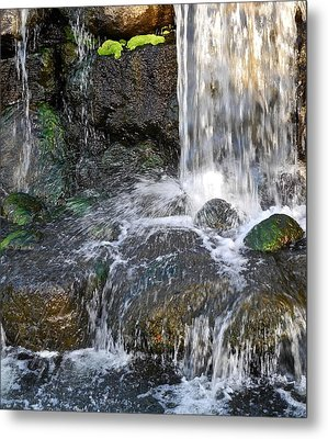 Metal Print featuring the photograph Splashing Water Falls by Kirsten Giving